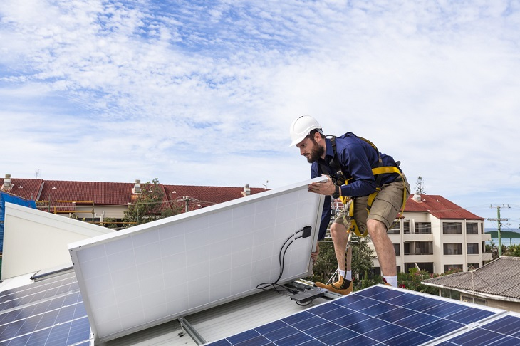 Solar Installation On Roof Top Saves Energy